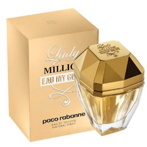 Perfume Lady Million Eau My Gold Paco Rabanne Eau de Toilette Feminino 50 ml