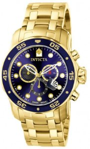 Relógio Invicta Masculino Pro Diver Dourado Modelo 0073