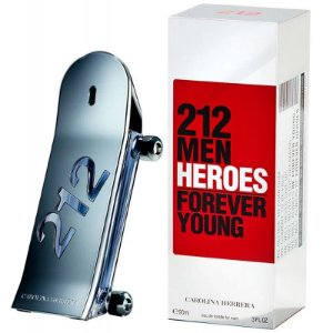 212 Men Heroes Forever Young 100ml Carolina Herrera Perfume Importado Masculino