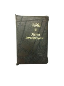 Bíblia e Harpa Letra Hiper gigante Medio