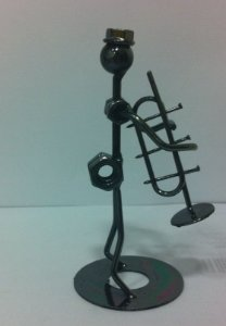 Musico de metal trompetista