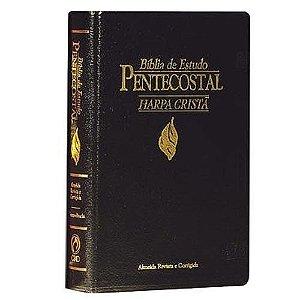 Bíblia de estudo Pentecostal Media com harpa