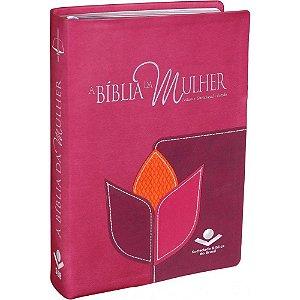 Bíblia da mulher rosa (grande)
