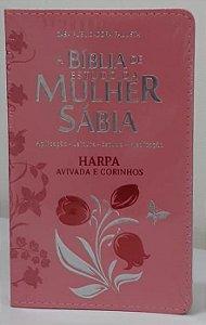Bíblia de estudo da mulher sábia com harpa