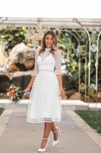 Vestido Midi Noiva Doce Maria Itália