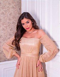 Vestido dourado Vianna