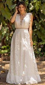 Vestido longo de Noiva Doce Maria Gabi