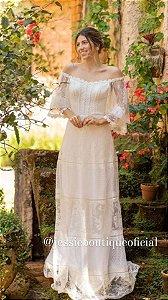 Vestido longo de Noiva Doce Maria Bia