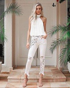 Calça Jeans Branca LeBlogStore