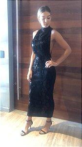 Vestido Midi Paete Anne Fernandes