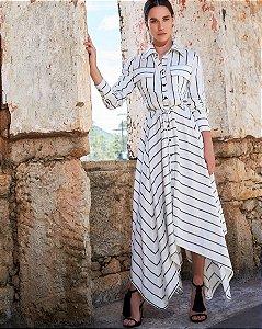 Vestido Midi Striped Anne Fernandes