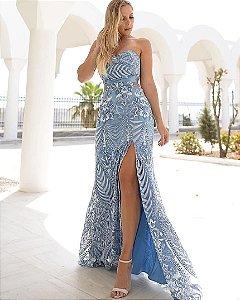 Vestido bordado luxo Serena