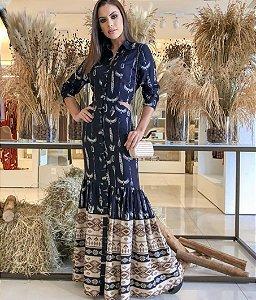 Vestido estampa Étnica Anne Fernandes