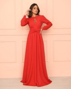 Vestido Longo Dot Lady in Red