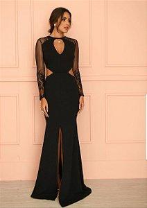 Vestido Longo com renda Dot