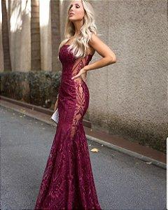 Vestido Longo em Guipir Sereia