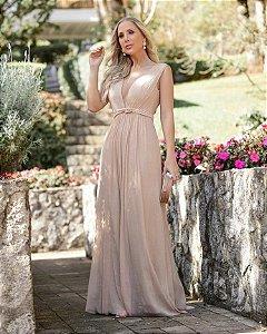 Vestido Lurex com cinto Lia