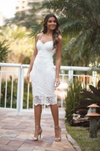 Vestido Midi Doce Maria Branco
