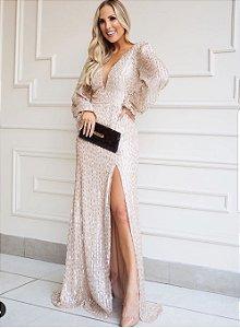 Vestido Longo em paete Milena
