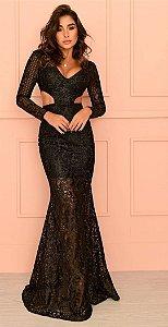Vestido Longo em Renda Sophia
