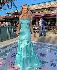 Vestido Tiffany em Cetim Fabiana