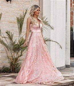 Vestido em Tule bordado Thais