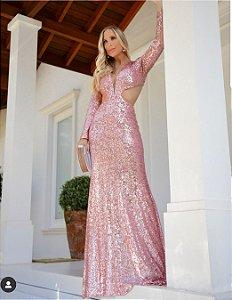Vestido paete Luxo Safira