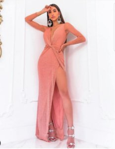 Vestido em lurex Michelli