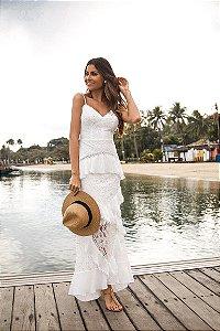 Vestido Longo Doce Maria Branco Maragogi