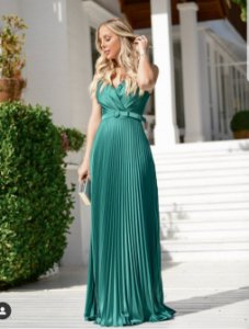 Vestido Plissado Giovanna