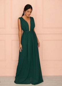 Vestido Verde Esmeralda com Cordão
