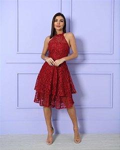 Vestido Midi em renda Isabella