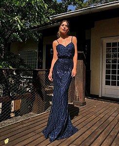 Vestido Longo bordado Sophia