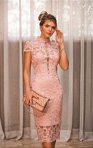 Vestido Midi Rose Doce Maria Life