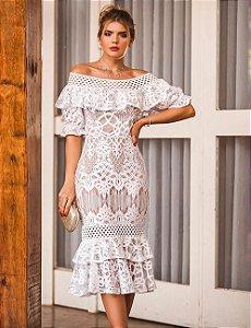 Vestido Midi Doce Maria Rosa