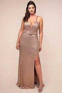 Vestido Plus Isadora com cinto