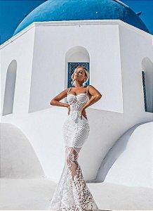 Vestido Resort com Saia e HotPaint Millie