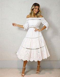 Vestido Laise Branco Dot