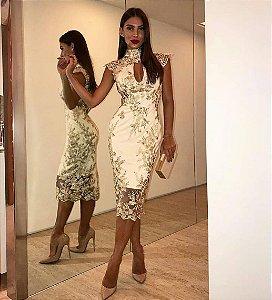 Vestido Midi Doce Maria Nude Collection Classic