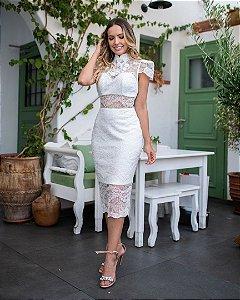 Vestido Midi em renda Classic Collection
