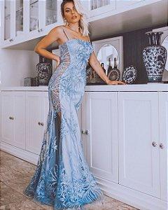 Vestido luxo Azul Serenity Brunella