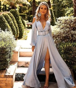 Vestido Longo Azul Serenity Bianca