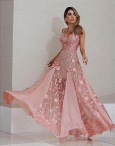 Vestido em Tule bordado Marina