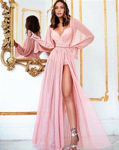 Vestido longo Rosa Judith
