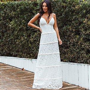Vestido Branco longo Bruna
