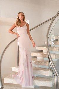 Vestido longo de Cetim Bruna