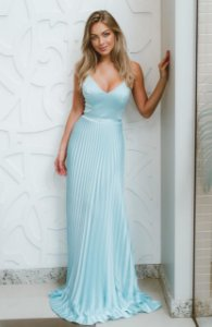 Vestido Plissado Ana Clara