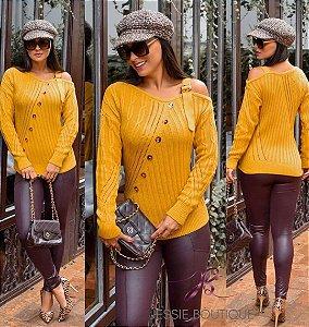Blusa de Tricot com Alça e gola Shanaya