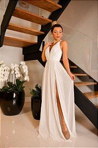 Vestido Fluído Branco Natália