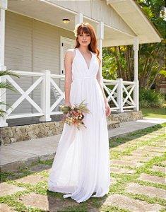 Vestido Fluído Branco Milena